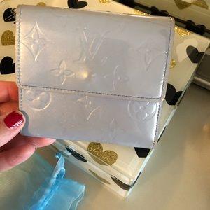 Authentic Louis Vuitton Blue Vernis  Wallet